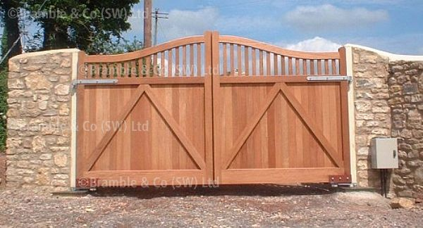 Electric Wooden Gates,Somerset